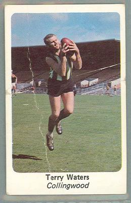 1971 Sunicrust Australian Football, Terry Waters trade card
