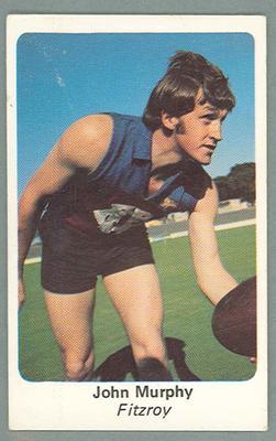 1971 Sunicrust Australian Football, John Murphy trade card