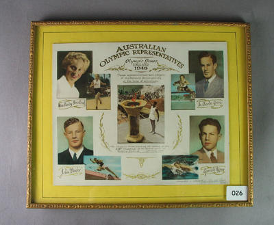Photographic montage of Australian representatives, 1948 Olympic Games