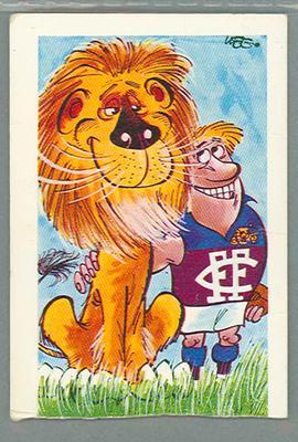 1973 Sunicrust Australian Football - Weg's Fantastic Footy Cartoons, Lions trade card