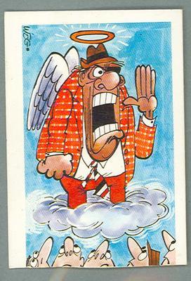 1973 Sunicrust Australian Football - Weg's Fantastic Footy Cartoons, Halo Harrigan trade card