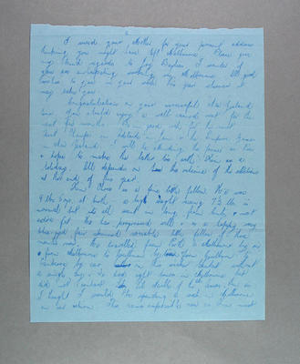 Page of a letter from AWAAU President to Shirley Strickland, 22 March 1949