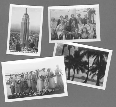 Collection of photographs, Australian women's hockey team USA tour 1936