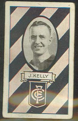 1933 Allen's Australian Football Joseph Kelly trade card; Documents and books; 1987.1871.4