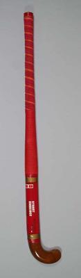 "Red ""Stuart Surridge"" brand hockey stick"