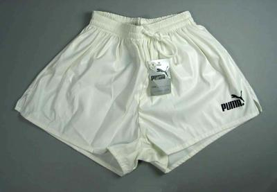 "White Puma ""Wembley"" soccer shorts"