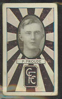 1933 Allen's Australian Football Fred Froude trade card; Documents and books; 1987.1871.16