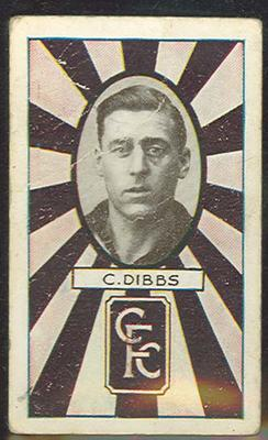1933 Allen's Australian Football Charlie Dibbs trade card; Documents and books; 1987.1871.17