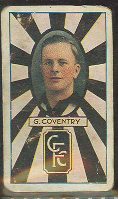 1933 Allen's Australian Football Gordon Coventry trade card; Documents and books; 1987.1871.19