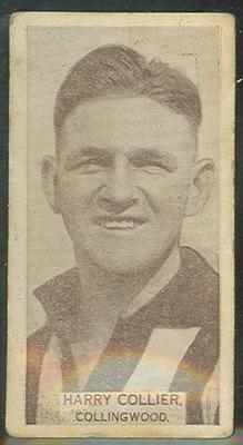 1933 Wills Australian Football Harry Collier trade card; Documents and books; 1987.1871.22