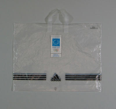 Plastic sponsor bag - 2004 Athens Olympic Games Torch Relay equipment