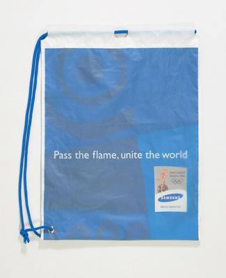 Drawstring Samsung bag - 2004 Athens Olympic Games Torch Relay
