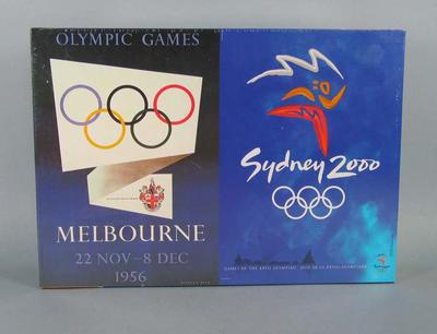 Jigsaw puzzle - logos of 1956 and 2000 Olympic Games - produced by Mattel