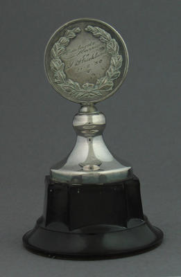 Trophy presented to Shirley Strickland by the Adelaide Harriers, 21 Feb 1950