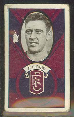 1933 Allen's Australian Football Frank Curcio trade card