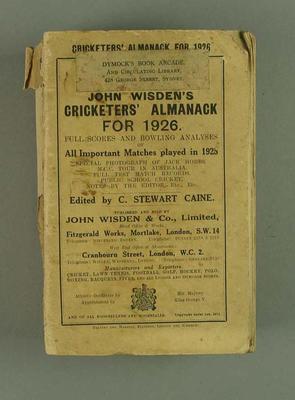 Wisden Cricketers' Almanack, 1926