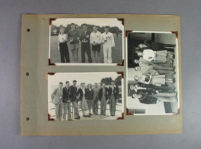 Page from photo album, Australian Athletic Team Tour to New Zealand 1949; Photography; 2003.3903.461