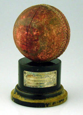 Trophy presented by Rose of Denmark Cricket Club for bowling 8 for 27, won by George Busch