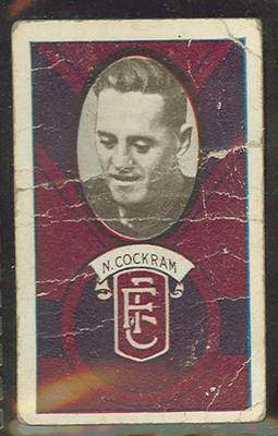 1933 Allen's Australian Football Norman Cockram trade card