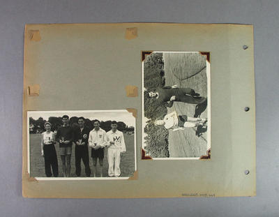Page from photo album, Australian Athletic Team Tour to New Zealand 1949; Photography; 2003.3903.467