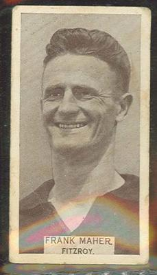 1933 Wills Australian Football Frank Maher trade card; Documents and books; 1987.1871.39