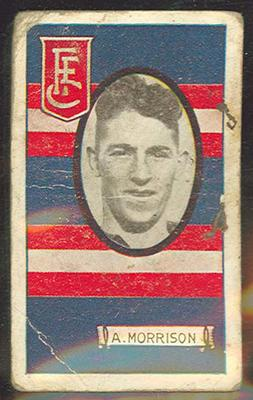 1933 Allen's Australian Football Albert Morrison trade card; Documents and books; 1987.1871.42