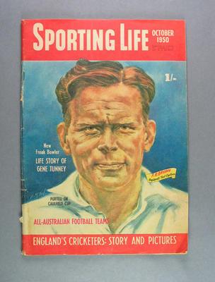 "Magazine, ""Sporting Life"" October 1950"