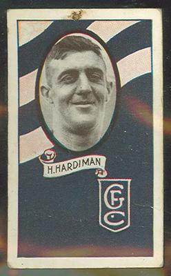 1933 Allen's Australian Football Harry Hardiman trade card