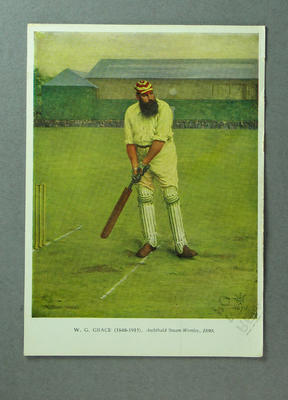 Postcard featuring image of W G Grace, 1972