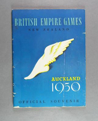 Booklet, British Empire Games Auckland 1950 Official Souvenir