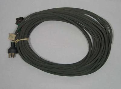 Electrical cable and plug used at 1956 Olympic Games Fencing; Building and grounds; 1993.2938.2