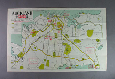 Map of Auckland, British Empire Games 1950