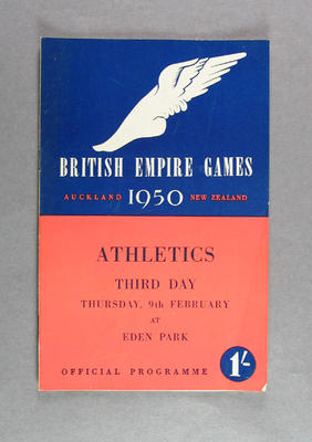 Programme for 1950 British Empire Games athletics events, 9 February