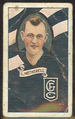 1933 Allen's Australian Football Len Metherell trade card