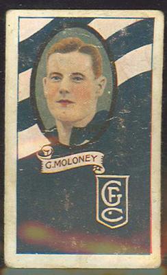 1933 Allen's Australian Football George Moloney trade card