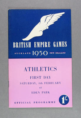 Programme for 1950 British Empire Games athletic events, Saturday 4 February
