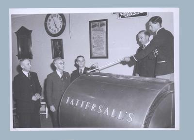 Photograph of Tattersalls draw, 1950 Empire Games