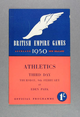 Programme for 1950 British Empire Games athletic events, Thursday 9 February