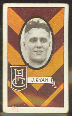 1933 Allen's Australian Football Jack Ryan trade card; Documents and books; 1987.1871.62