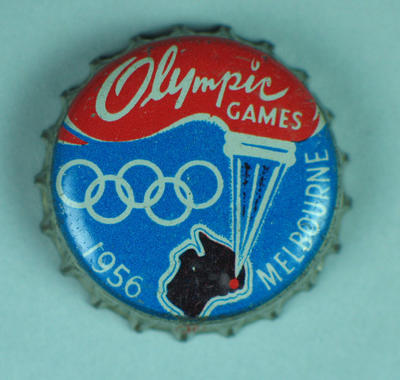 Bottle cap with 1956 Melbourne Olympic Games emblem