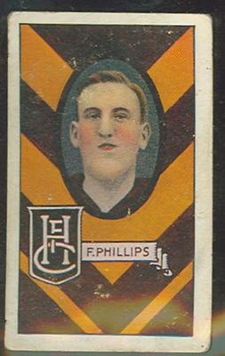 1933 Allen's Australian Football Fred Phillips trade card; Documents and books; 1987.1871.63