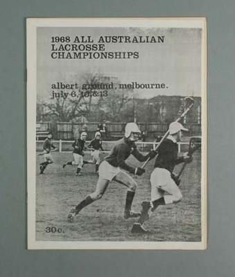1968 All Australian Lacrosse championships 6-13 July 1968 - 2 copies
