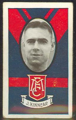 1933 Allen's Australian Football Joseph Kinnear trade card