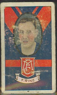 1933 Allen's Australian Football Francis Vine trade card