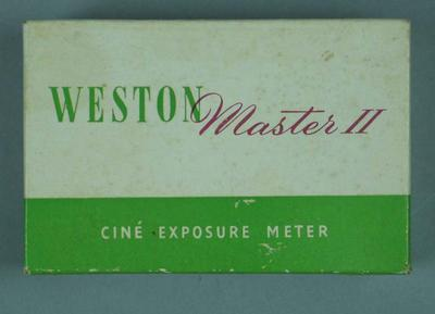 Box for Weston light meter, c1950s