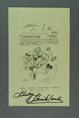 "Magazine insert, ""The Athlete"" Spring 1951"