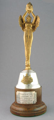 Commonwealth Jubilee Celebrations 1951 trophy, awarded to Shirley Strickland