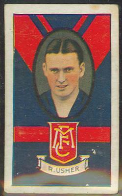 1933 Turf Australian Football Ray Usher trade card