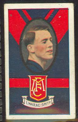1933 Turf Australian Football Ivor Warne-Smith trade card
