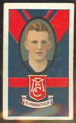 1933 Turf Australian Football George Margitich trade card